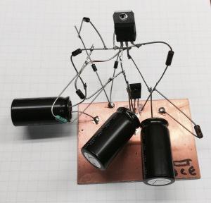 Space wired test of high voltage regulator.