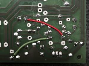 Board mods to underside of 48V regulator.