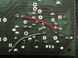 Board mods to underside of 48V regulator.