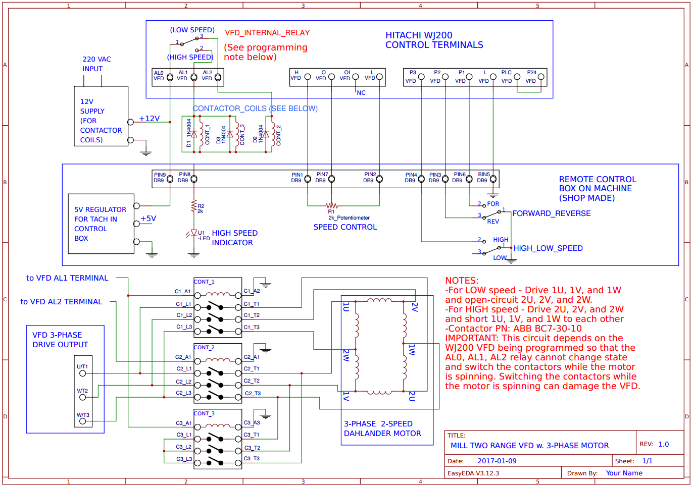 adding a vfd to an odd duck milling machine enco 100 1525 motor rh lensprojects wordpress com Single Phase Transformer Wiring Diagram Single Phase Motor 6 Wire Connection
